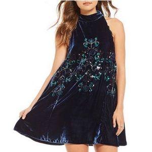 NWT Free People Jill's Sequin Swing Mini Dress